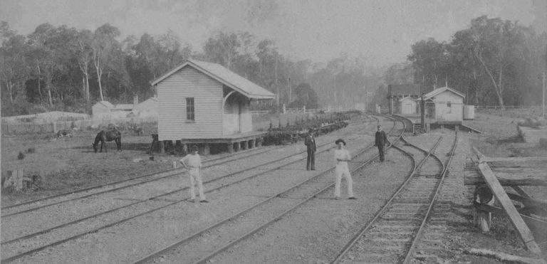 Yandina Railway Station circa 1920