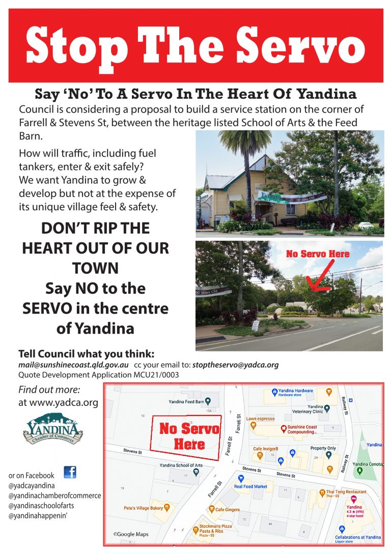 STOP THE SERVO POSTER