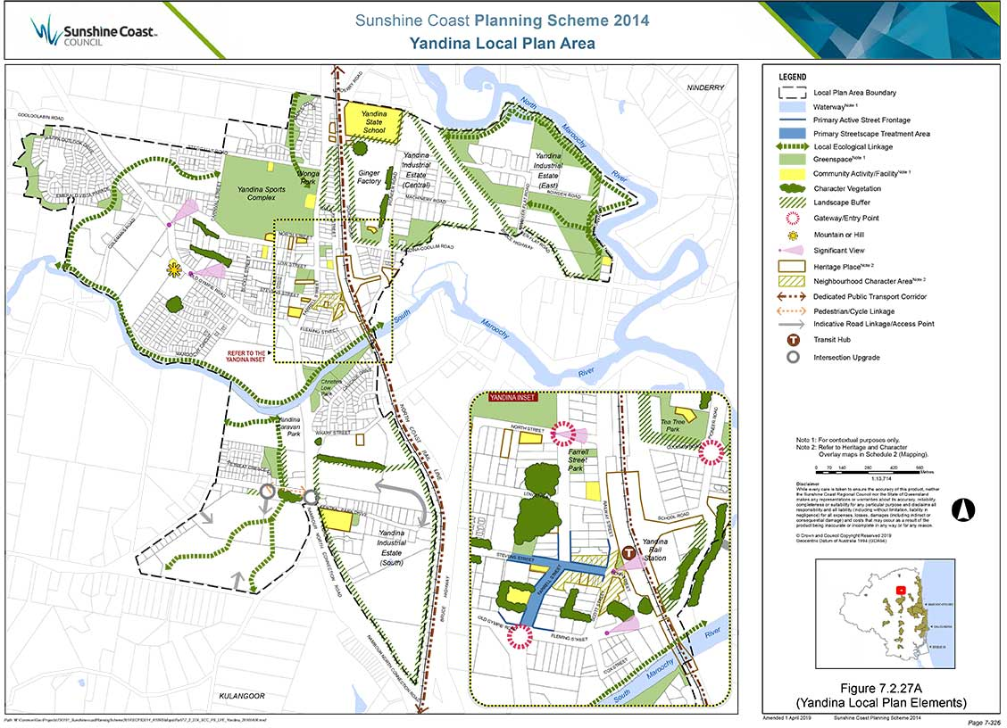 Yandina Local Plan Area 2014